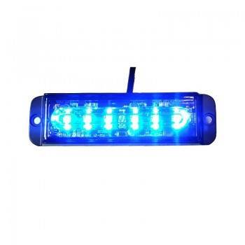 BARRA PEQ 6LED AZUL 12/24V