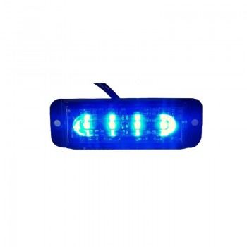 BARRA PEQ 4 LED AZUL 12/24V