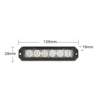 BARRA PEQ 6 LED 12/24 V