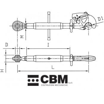 575-880mm M36x3 P2/P2