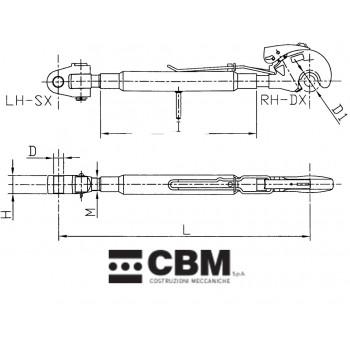 730/1010mm M36x3 D32/P3
