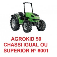 AGROKID 50 CHASSI IGUAL OU SUPERIOR Nº 6001