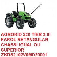 AGROKID 220 TIER 3 CHASSI IGUAL OU SUPERIOR Nº ZKDS2102V0MD20001