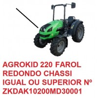 AGROKID 220 TIER 3 CHASSI IGUAL OU SUPERIOR Nº ZKDAK10200MD30001