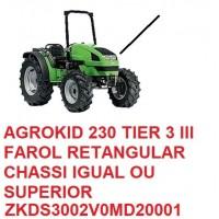 AGROKID 230 TIER 3 CHASSI IGUAL OU SUPERIOR Nº ZKDS3002V0MD20001